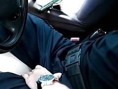 Gorgeous Heather Vahn skillfully seduces police officer Hugh Jazz.